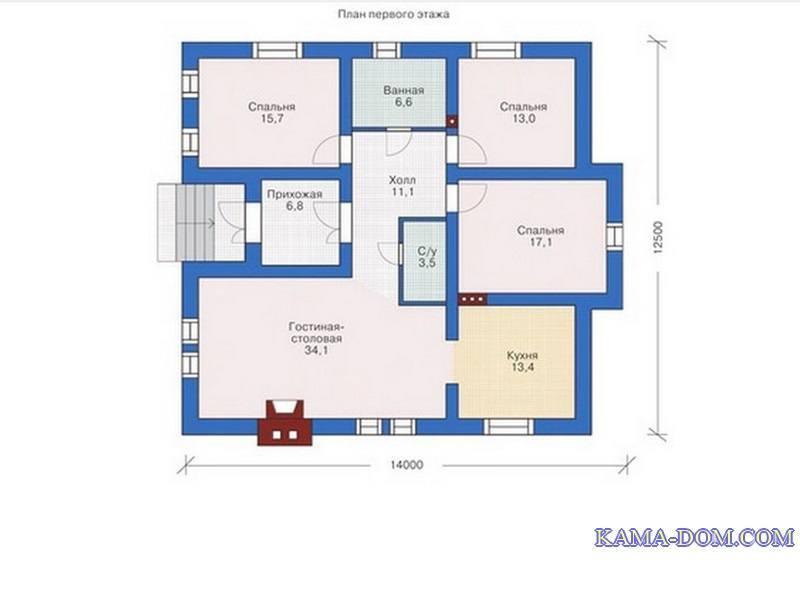 план одноэтажного дома 150 кв м с цоколем бюджета составит полтора