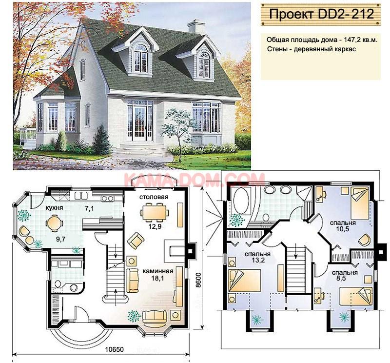 Проекты и строительство домов и коттеджей с камином