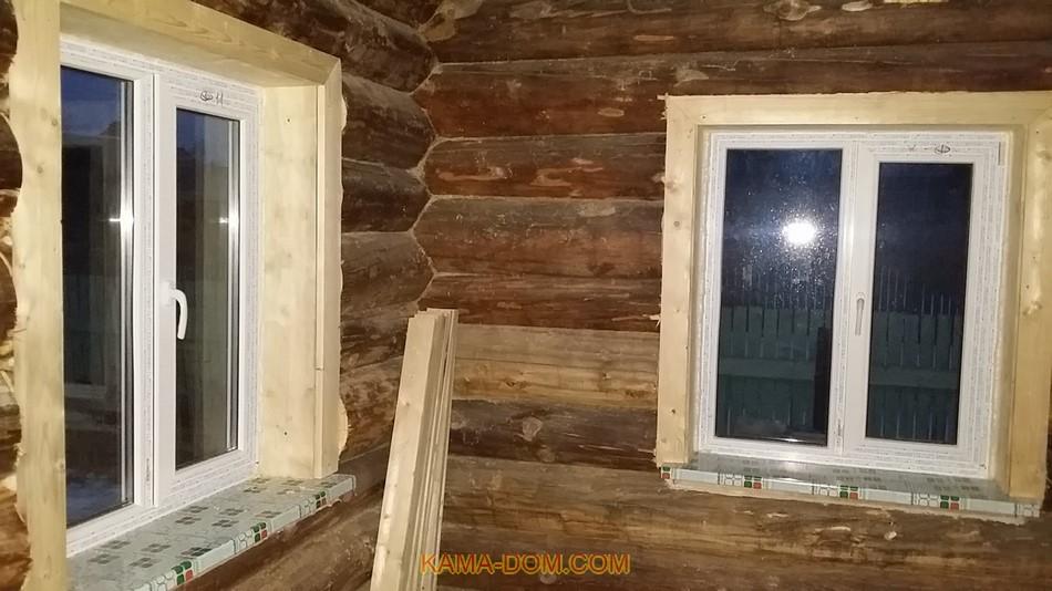 Как сделать обналичку в деревянном доме 101